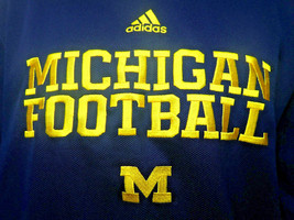 Michigan Wolverines ADIDAS Climawarm Performance Sweatshirt Mens Sz L Large - $24.75