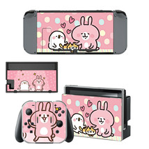 Nintendo Switch Joy-Con Dock Vinyl Skin Decals Anime Kawaii Cute Bunnys Rabbits - $9.70