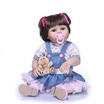 Binxing Toys 23 inch Washable Reborn Baby Dolls Silicone Vinyl Full Body... - $68.57