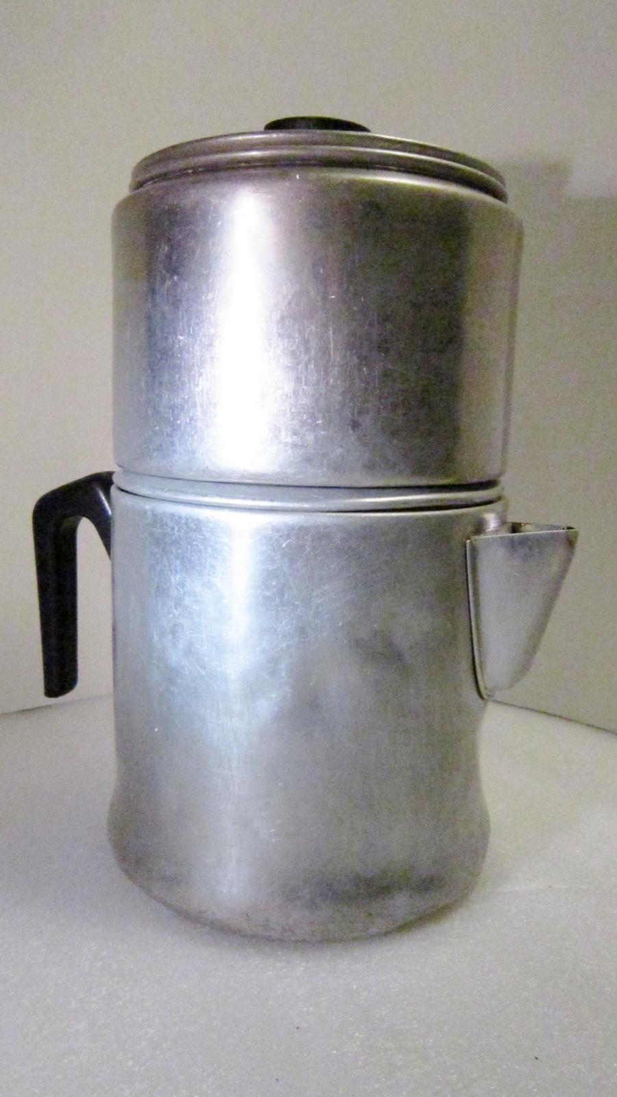 Drip-O-lator Coffee Maker Enterprise Aluminum, Macon, Georgia USA - Aluminum