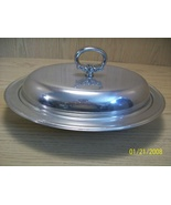 Serving Dish Aluminum with Glass Insert Pfaltzg... - $14.95