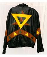 Vintage Chamonix French Connection Leather Bomber Style Jacket Size X La... - $24.95