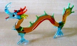 "Vintage Venetian Murano Art Glass Chinese Dragon/3"" tall x 5 1/2"" wide - $42.95"