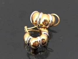 Vintage 18K Solid Yellow & White Gold Clip On Earrings  - $565.00