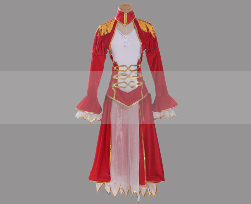 Fate extra nero saber red dress cosplay for sale