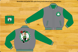 JH Design Boston Celtics Two Tone Wool Reversible Jacket  - $108.95