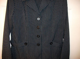 SPANGO BLAZER JACKET NEW WITH TAGS NAVY BLUE COLOR WITH WHITE PINSTRIPES... - $18.68