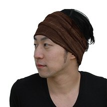 CasualBox Mens Sports Sweat Headband Towel Stretch Spandex Brown - $338,96 MXN