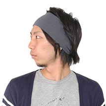Casualbox Womens Japanese Elastic Headband Hair Band Accessory Sport Gray - €10,74 EUR