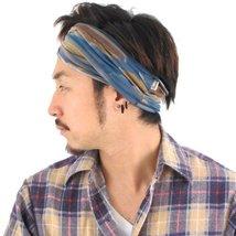 Casualbox mens Elastic headband Hand Dyed Japanese Bandana D. Blue - €16,11 EUR