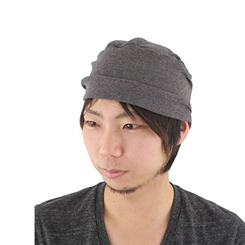 b28505afca0590 Casualbox womens Organic Made in JAPAN Night cap sleep beanie Indoor Hat  D.Gray - $21.00