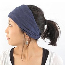 Casualbox Womens Made in Japan HeadBand Hair band Organic Cotton Skin Navy - €15,09 EUR