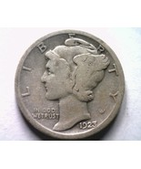 1923 MERCURY DIME FINE F NICE ORIGINAL COIN FROM BOBS COINS FAST SHIPMENT - €5,02 EUR