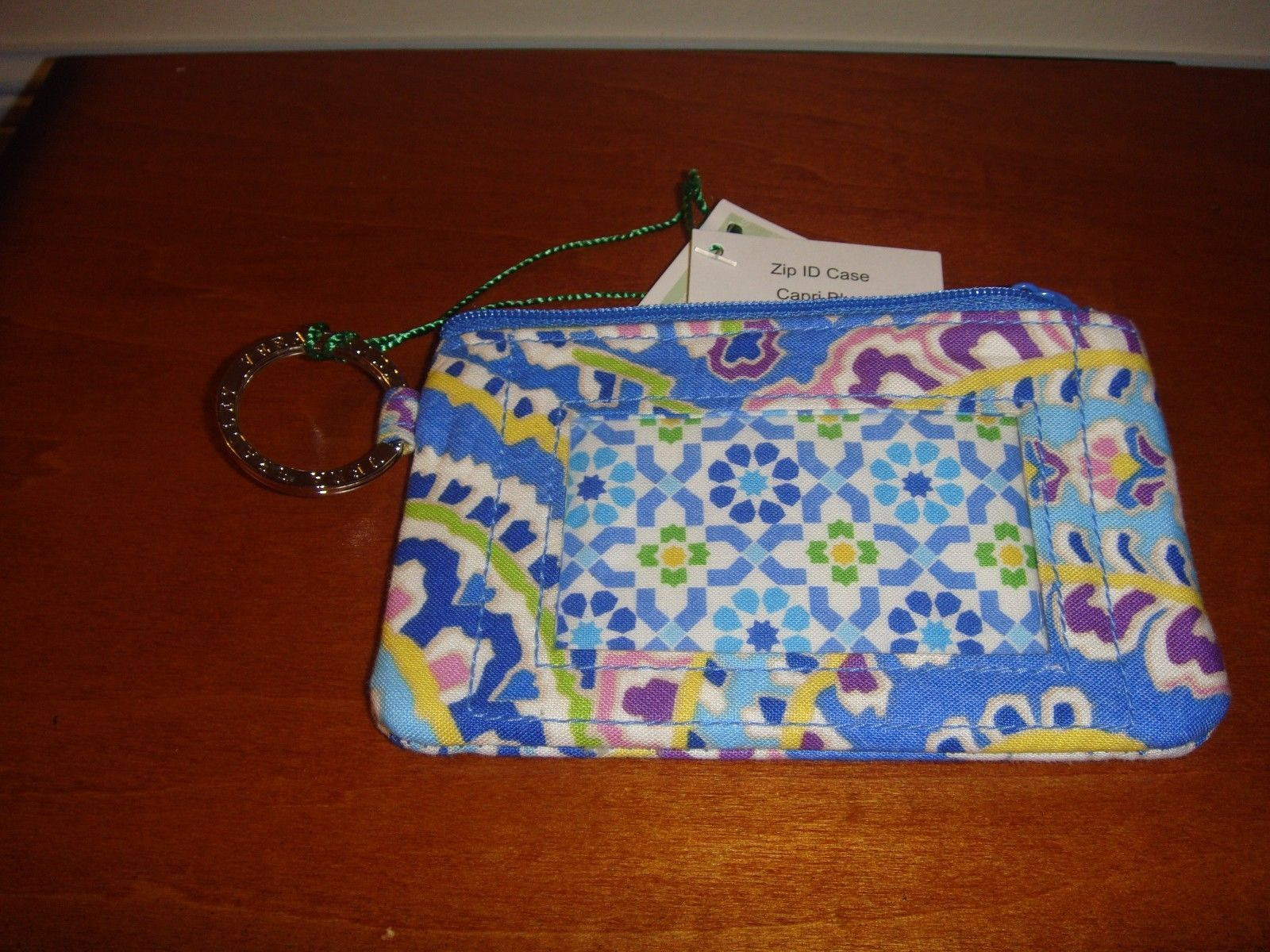 6a91c9c2a5d3 Vera Bradley Capri Blue Zip ID Case and 39 similar items. 57
