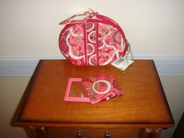 Vera Bradley Rosy Posies Mirror Cosmetic And Magnifier - $31.99