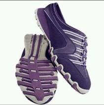New Purple Sporty Sneakers Slides Half Heel Curves Avon Open Back Walkin... - $23.11
