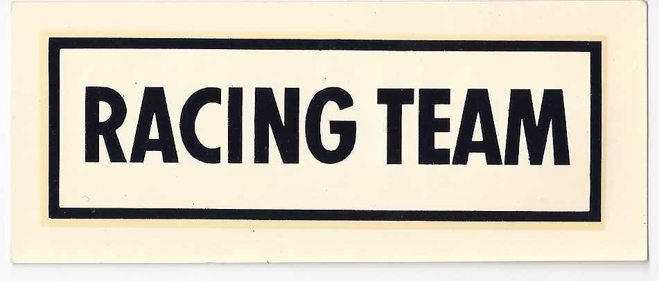 Sticker racing team