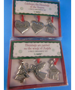 2 sets of 3 Ganz Christmas Silver Color Metal  Ornaments Friends Home Tr... - $15.93