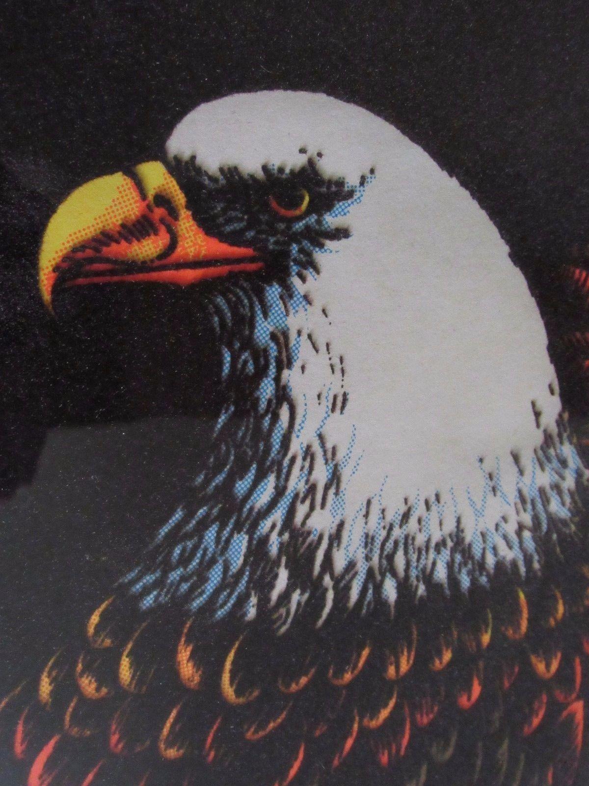 "Prison Art Velvet American Bald Eagle Picture Wood Frame Large 28"" by 38"""