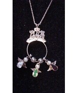 Vintage Sterling Silver Pendant Necklace with c... - $49.45