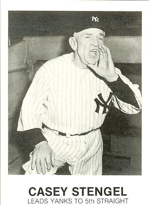 Primary image for 1984 casey stengel new york yankees renata galasso baseball card