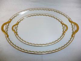 Limoges France Fine China Porcelaine lot of Two Oval Serving Platter - $119.95