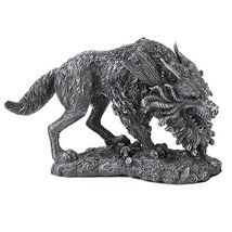 Werewolf Faux Stone Home Decor Statue Made of Polyresin - $27.76
