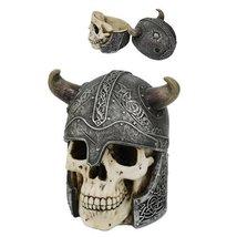 Viking Skull Box Home Decor Statue Made of Polyresin - $37.86