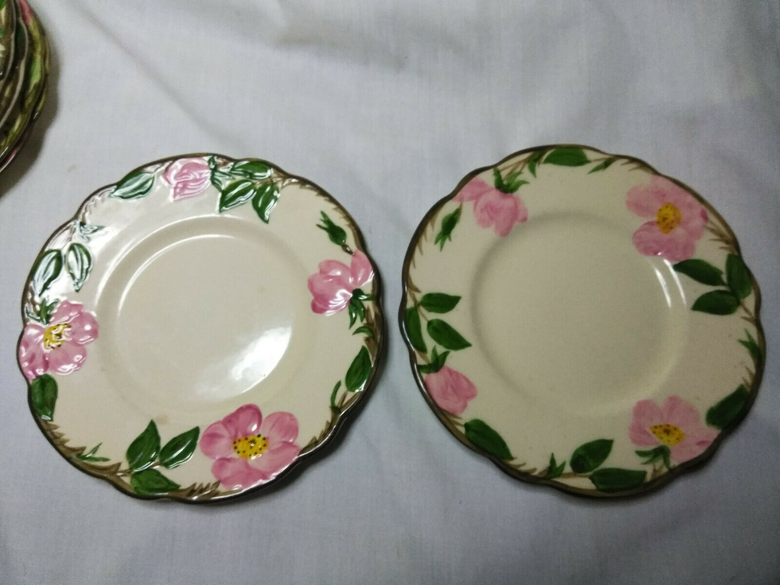 Vintage Franciscan China Desert Rose Set of 6-6.5 inch Cheese/Dessert  Plates B