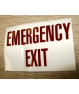 """RV Safety Decal """"EMERGENCY EXIT"""" Size: 3 1/4"""" x 2 1/8"""" #GC0244 - $8.42"""