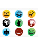 Abstract Halloween Sticker Series Set2-ClipArt-Digital ArtClip-Digital-G... - $4.00