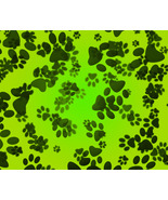 Dog Paws Green Background-ClipArt-Digital ArtCl... - $3.00