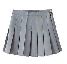 Women High Waist Solid Pleated Mini Slim Single Tennis Skirts (Wasit29''... - £15.96 GBP