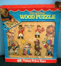Rare Vtg. Fisher Price Pick Up 'N Peek #516 Circus Wooden Puzzle MIB!  (D) - $34.99