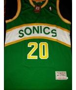1Gary Payton #20 Super Sonics Retro Classic Throwback Jersey Stitched Ha... - $22.95