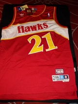 Dominique Wilkins 21 Hardwood Classic Retro Throwback Jersey Stitched Wi... - $22.95