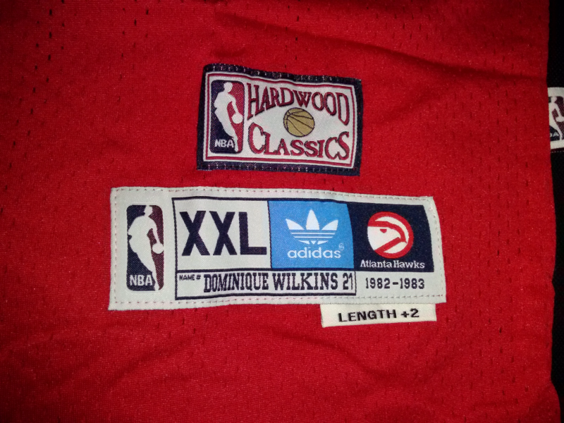 Dominique Wilkins 21 Hardwood Classic Retro Throwback Jersey Stitched With Tags