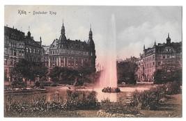 Fountain Koln Deutscher Ring Germany Cologne  Vintage F Manger Postcard - $5.79