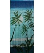 Bamboo Beaded Door Curtain- Tropical Palms Sway... - $49.00