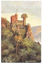 Tuck Rheinburgen Oilette Germany Burg Rheinstein Castle Vintage Postcard - $6.69