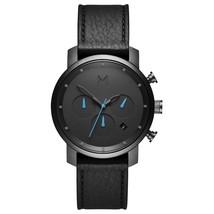 MVMT Watches | Men's | Gunmetal Black Leather Chrono | 40mm - $114.00