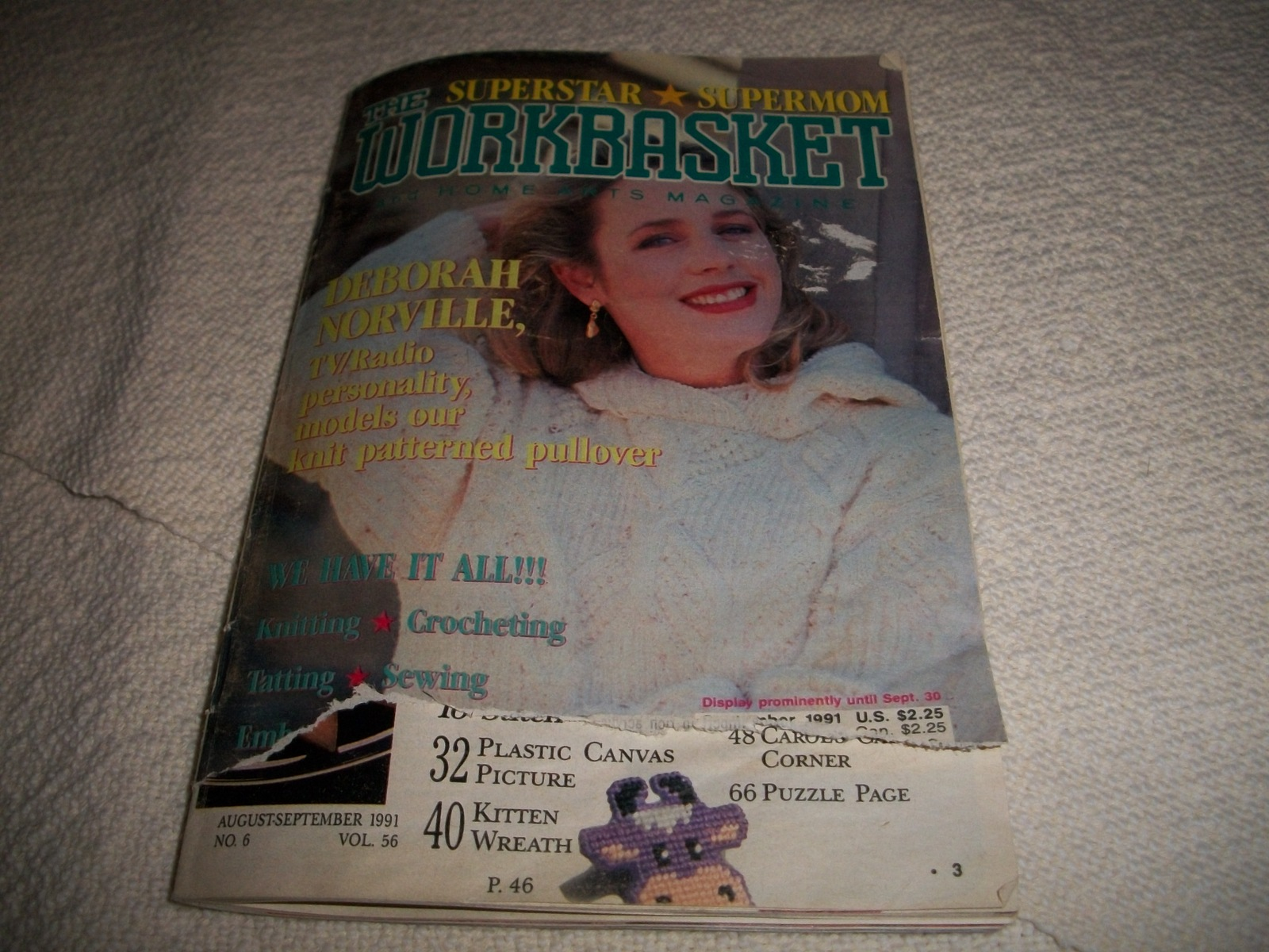 The Workbasket Magazine August/September 1991 and 50 similar items