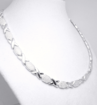 "Illustra Sterling Silver 17"" Stampato Pave-Style Necklace  - $89.00"