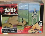 Star Wars Episode 1 Hasbro NIB Armored Scout Tank with Battle Droid