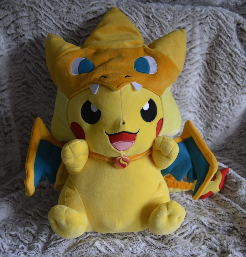 Pokemon Center Plush Pikachu Mega Charizard Y Pikazard Jumbo