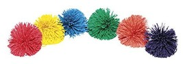 Sportime 1449451 Rub-R-String Ball Set, 9 cm, Assorted Color Pack of 6