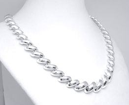 "Sterling Silver 18"" Diamond Cut San Marco Necklace  - $125.00"