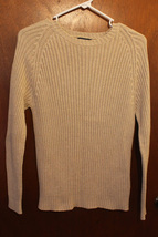 Lands' End Beige Ribbed Sweater - Size Small (6/8) - $11.99