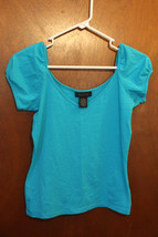The Limited Blue Cap Sleeve T-Shirt - Size Juniors XS - $9.99