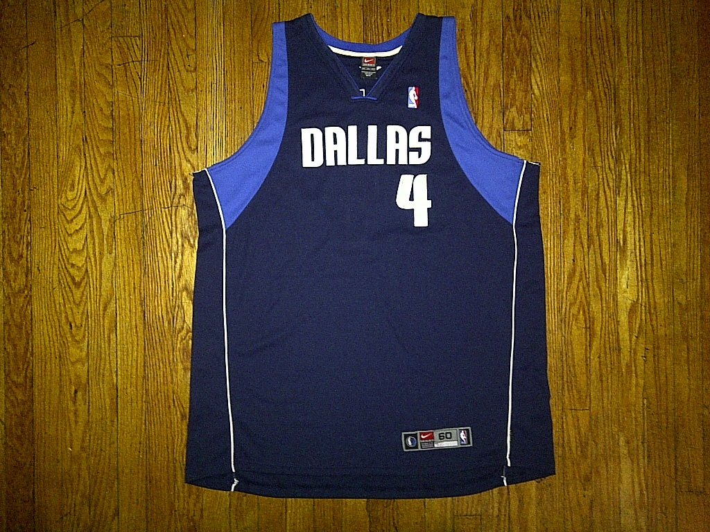 Primary image for Authentic Nike Dallas Mavericks Michael Finley 4 Dark Navy Blue Road Jersey 60